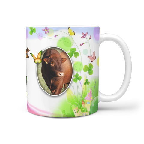 Bonsmara Cattle (Cow) Print 360 White Mug