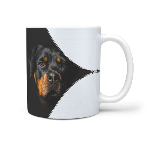 Rottweiler On Black Print 360 Mug