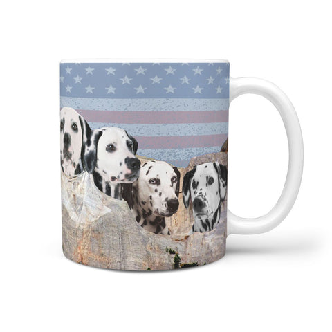 Dalmatian Dog On Mount Rushmore Print 360 Mug