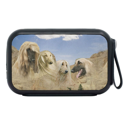 Afghan Hound On Mount Rushmore Print Bluetooth Speaker