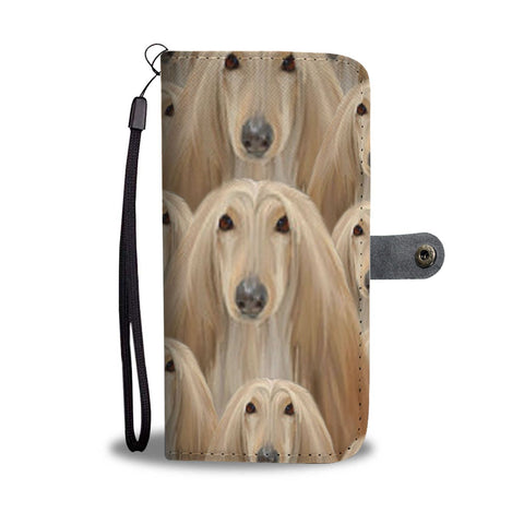 Afghan Hound Dog Print Wallet Case