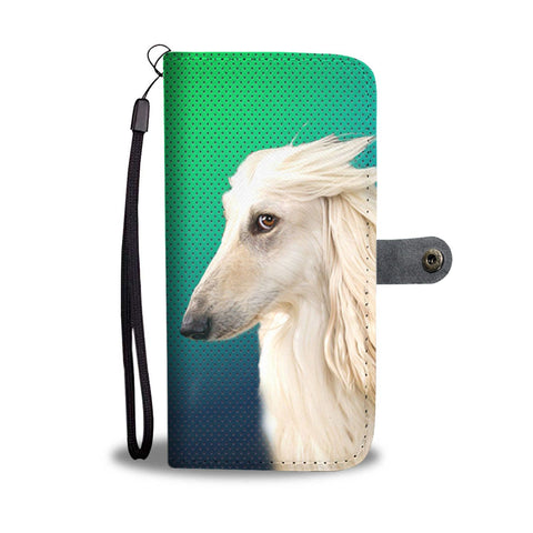 Amazing Afghan Hound Dog Print Wallet Case