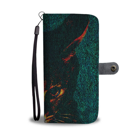 Amazing Savannah Cat Print Wallet Case