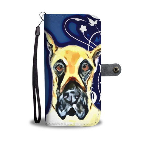 Amazing Great Dane On Blue Print Wallet Case