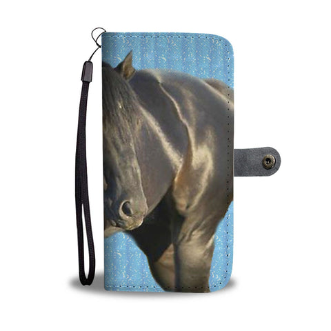 Amazing Thoroughbred Horse Print Wallet Case