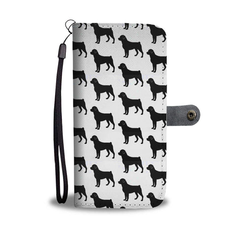 Amazing Rottweiler Dog Pattern Print Wallet Case
