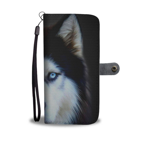 Amazing Siberian Husky Dog Art Print Wallet Case