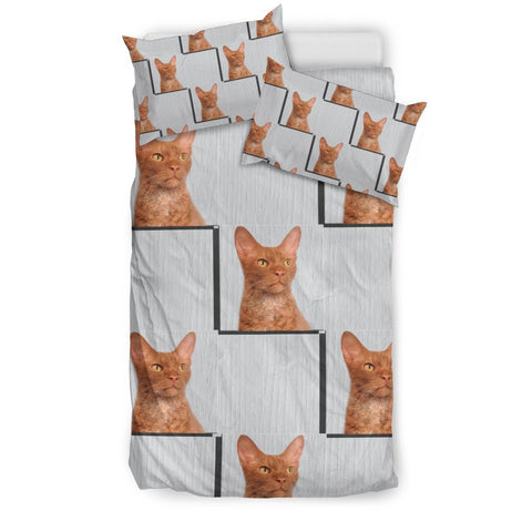 LaPerm Cat Patterns Print Bedding Set