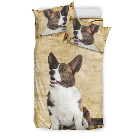 Cute Cardigan Welsh Corgi Print Bedding Set