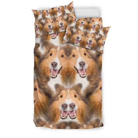 Shetland Sheepdog In Lots Print Bedding Sets
