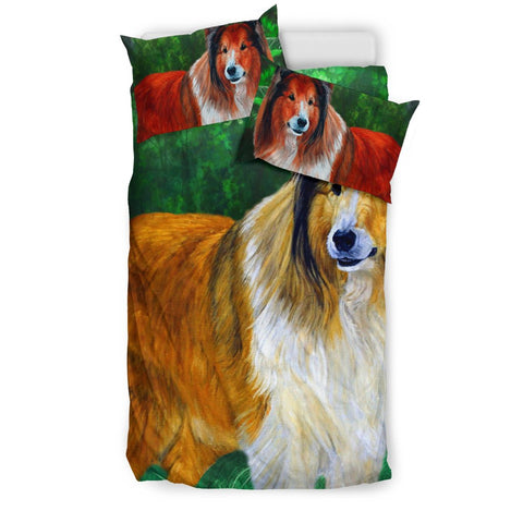 Rough Collie Dog Art Print Bedding Set