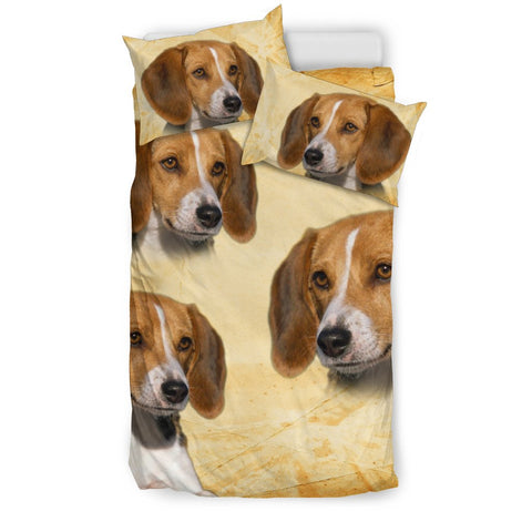 Cute American Foxhound Print Bedding Set