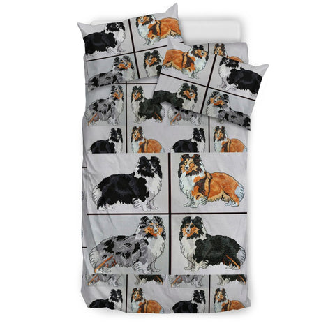 Shetland Sheepdog Art Print Bedding Set