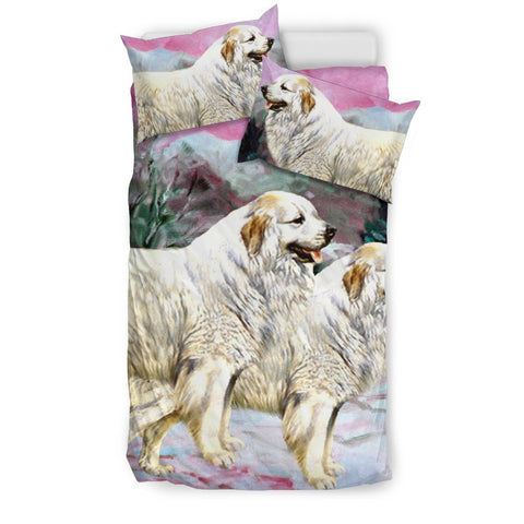 Great Pyrenees Dog Art Print Bedding Set