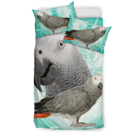 African Grey Parrot Print Bedding Sets