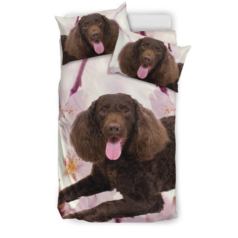 American Water Spaniel Print Bedding Set