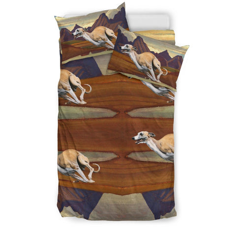 Whippet Dog Racing Print Bedding Sets