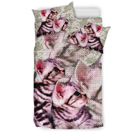 Lovely American Shorthair Cat Print Bedding Set