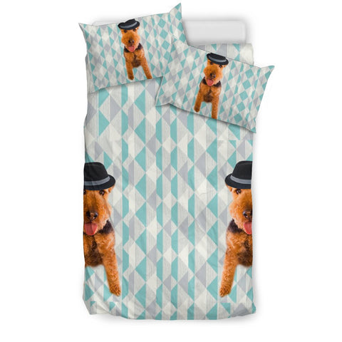 Welsh Terrier Dog With Cap Print Bedding Sets