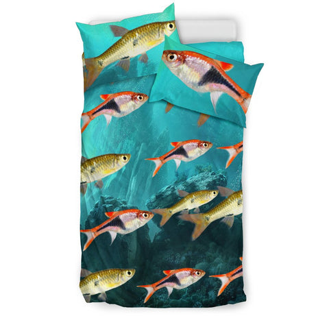 Beautiful Seluang Fish Print Bedding Set