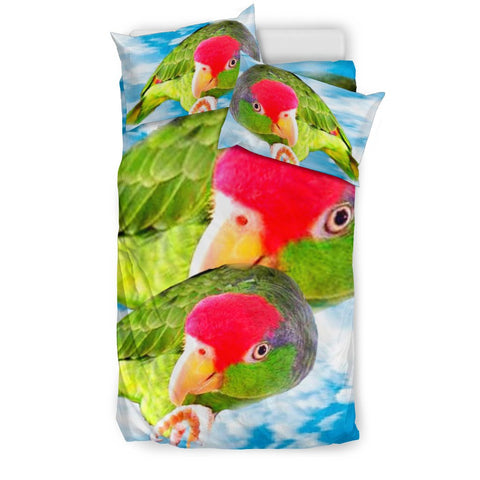 Amazon Red Headed Parrot Print Bedding Set