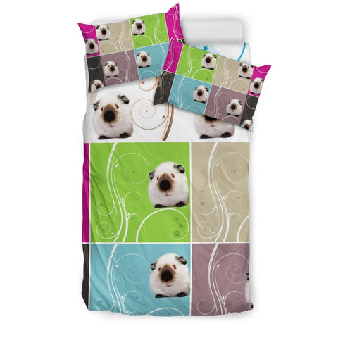 Cute Himalayan guinea pig Multicolored Print Bedding Sets