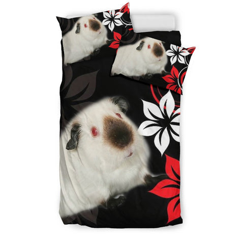 Cute Himalayan guinea pig Print On Black Bedding Sets