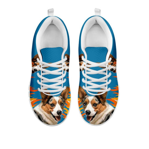 Amazing Cardigan Welsh Corgi Print Running Shoes For WomenFor 24 Hours Only