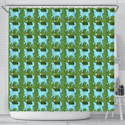 Golden Retriever Dog Pattern Print Shower Curtain