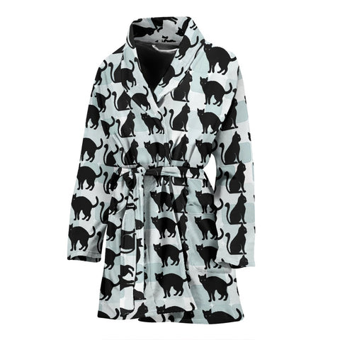 Cat Patterns Print Women's Bath Robe