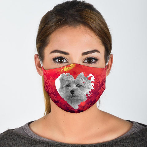 Norfolk Terrier On Heart Print Face Mask