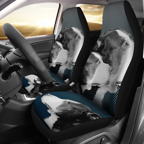 Amazing Pit Bull Dog Print Car Seat Covers