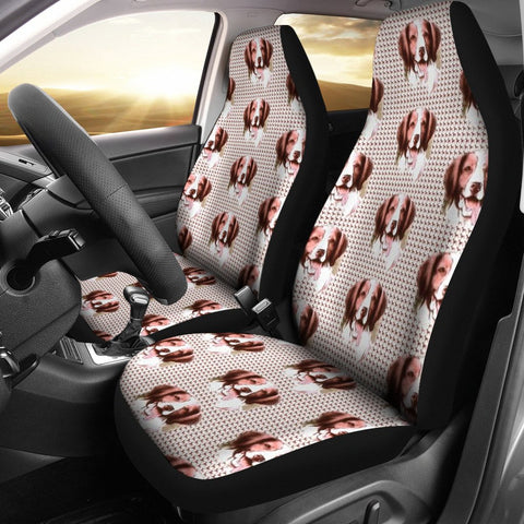 Brittany dog Patterns Print Car Seat Covers