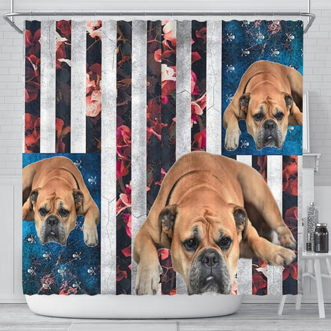 Bullmastiff Dog Print Shower Curtain