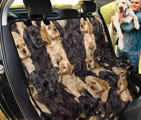Cocker Spaniel In Lots Print Pet Seat covers
