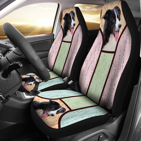 Cute Border Collie Print Car Seat Covers