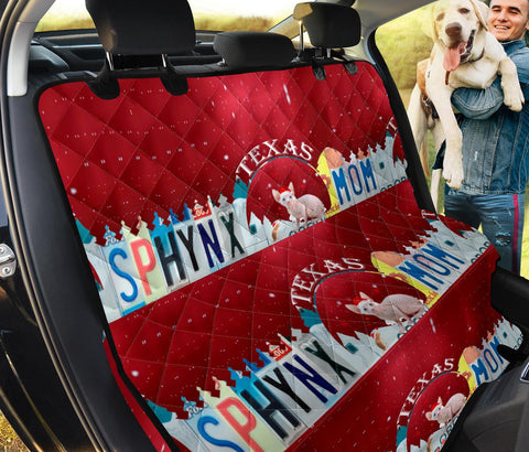 Sphynx Cat Mom Print Pet Seat Covers