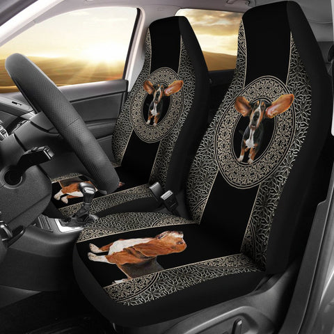 Basset Hound Print Car Seat Covers