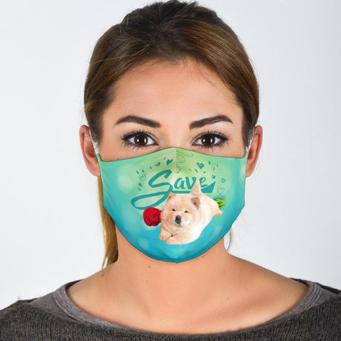 Chow Chow Save Print Face Mask