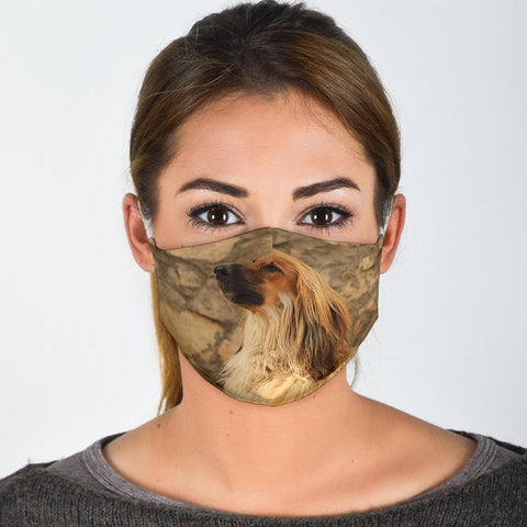 Amazing Afghan Hound Print Face Mask