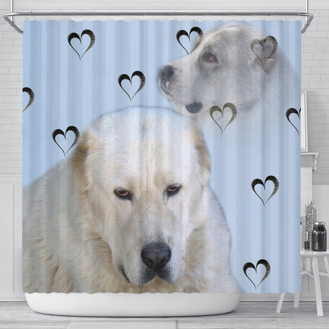 Amazing Central Asian Shepherd Dog Print Shower Curtain