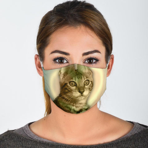 Cute Bengal Cat Print Face Mask