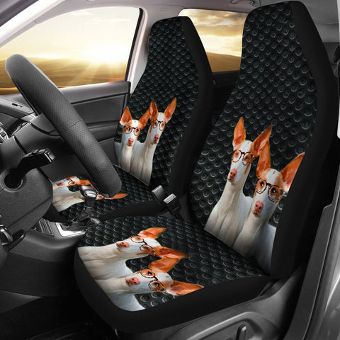 Ibizan Hound Dog On Black Print Car Seat Covers