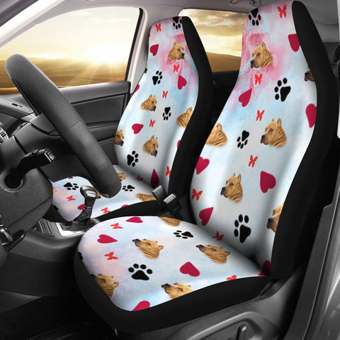 American Staffordshire Terrier Patterns Print Car Seat Covers
