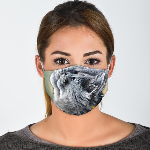 Amazing Nebelung Cat Print Face Mask