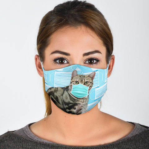 Lovely American Shorthair Cat Print Face Mask