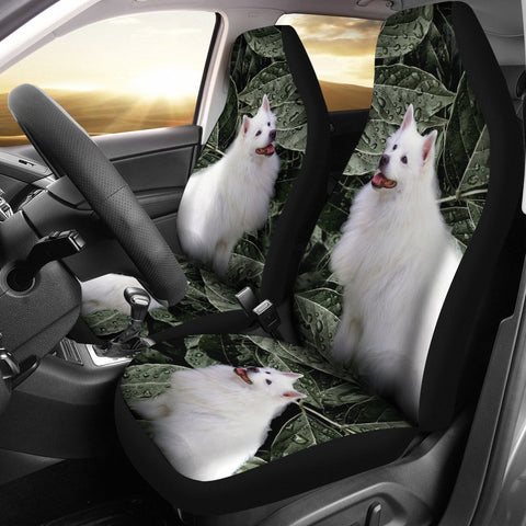 American Eskimo Print Car Seat Covers