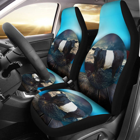 Amazing Belted Galloway Cattle (Cow) Print Car Seat Covers