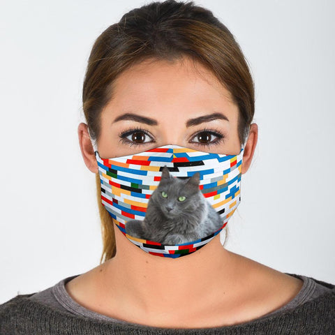Nebelung Cat Print Face Mask
