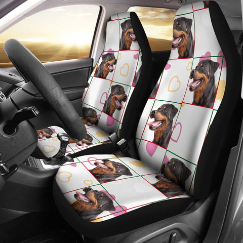 Rottweiler Patterns Print Car Seat Covers